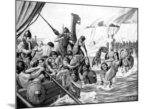 Saxon Raiders-Richard Caton Woodville II-Mounted Giclee Print