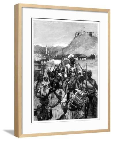 Albanians from Scutari Cross the Boyana to Occupy Dulcigno, 1880-Richard Caton Woodville II-Framed Art Print