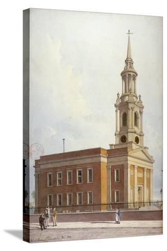 North-West View of St Paul's Church, Shadwell, London, 1822-Robert Blemmell Schnebbelie-Stretched Canvas Print