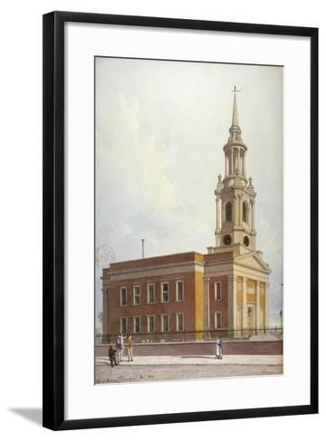 North-West View of St Paul's Church, Shadwell, London, 1822-Robert Blemmell Schnebbelie-Framed Art Print
