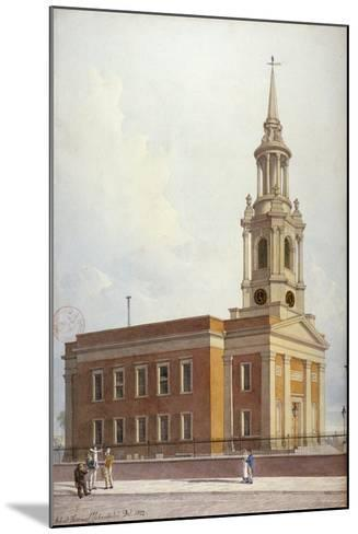 North-West View of St Paul's Church, Shadwell, London, 1822-Robert Blemmell Schnebbelie-Mounted Giclee Print