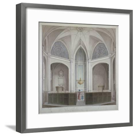 Interior of the Church of St Bartholomew-The-Less, City of London, 1834-Robert Blemmell Schnebbelie-Framed Art Print
