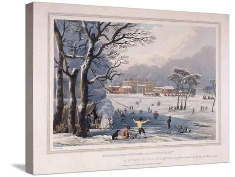 Buckingham House and St James's Park in the Winter, London, 1817-Robert Havell the Younger-Stretched Canvas Print