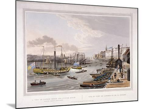 London Bridge, London, 1820-Robert Havell the Younger-Mounted Giclee Print