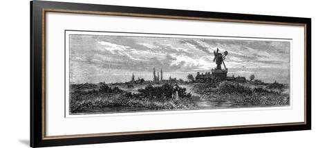 Windmill on Wimbledon Common, 1880-Robert Taylor Pritchett-Framed Art Print