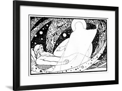 Drawing for the Book of Job, 1913-Robert Traill Rose-Framed Art Print