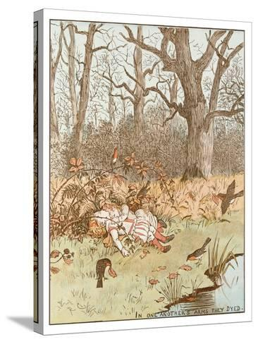 Scene from the Babes in the Wood, 1878-Randolph Caldecott-Stretched Canvas Print