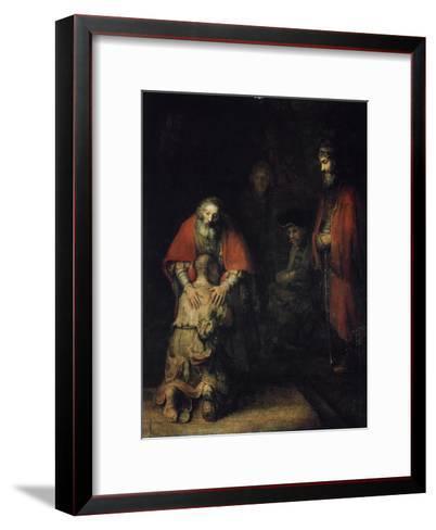 The Return of the Prodigal Son, C1668-Rembrandt van Rijn-Framed Art Print