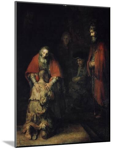 The Return of the Prodigal Son, C1668-Rembrandt van Rijn-Mounted Giclee Print