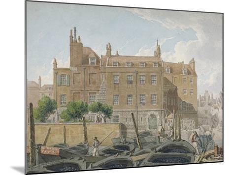 The Treasury, Whitehall, Westminster, London, 1818-Robert Blemmell Schnebbelie-Mounted Giclee Print
