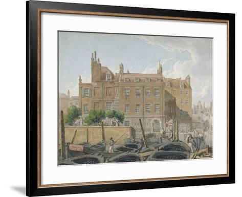 The Treasury, Whitehall, Westminster, London, 1818-Robert Blemmell Schnebbelie-Framed Art Print