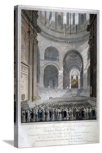 Anniversary Meeting of the Charity Children in St Paul's Cathedral, City of London, 1826-Robert Havell the Younger-Stretched Canvas Print