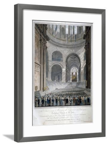 Anniversary Meeting of the Charity Children in St Paul's Cathedral, City of London, 1826-Robert Havell the Younger-Framed Art Print