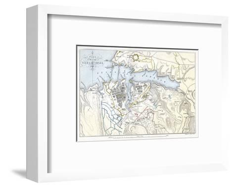 Map Showing the Siege of Sevastopol, Crimean War, 1854-1855-Robert Walker-Framed Art Print