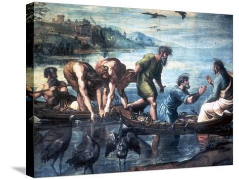 The Miraculous Draught of Fishes, 1515-Raphael-Stretched Canvas Print