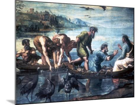 The Miraculous Draught of Fishes, 1515-Raphael-Mounted Giclee Print
