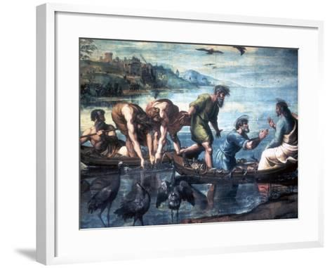The Miraculous Draught of Fishes, 1515-Raphael-Framed Art Print