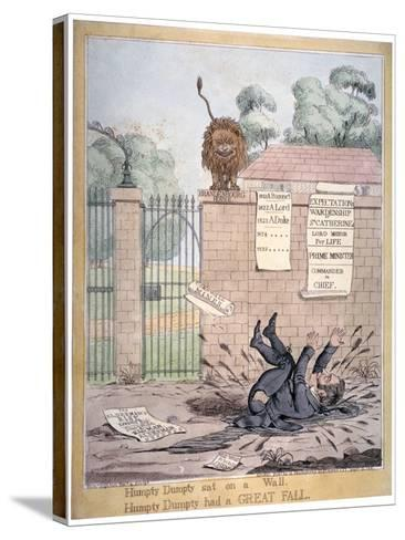 Humpty Dumpty Sat on a Wall..., 1821-Richard Dighton-Stretched Canvas Print