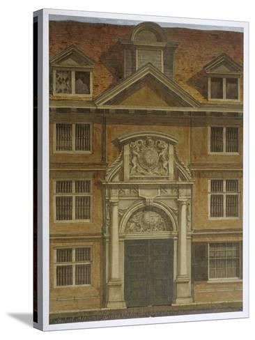 Blackwell Hall, City of London, 1819-Robert Blemmell Schnebbelie-Stretched Canvas Print