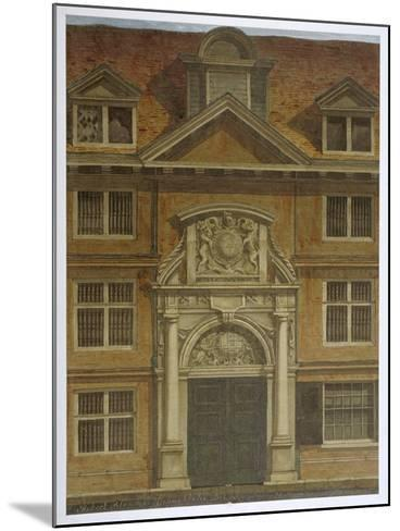 Blackwell Hall, City of London, 1819-Robert Blemmell Schnebbelie-Mounted Giclee Print
