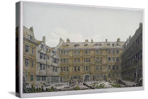 Furnival's Inn, City of London, 1818-Robert Blemmell Schnebbelie-Stretched Canvas Print