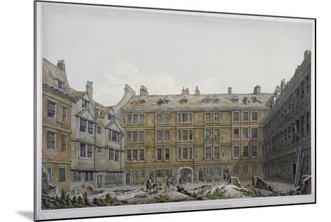 Furnival's Inn, City of London, 1818-Robert Blemmell Schnebbelie-Mounted Giclee Print