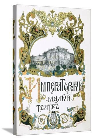 Poster for the Maly Theatre, Moscow, 1913-Pyotr Afanasyev-Stretched Canvas Print