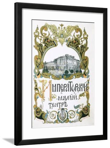 Poster for the Maly Theatre, Moscow, 1913-Pyotr Afanasyev-Framed Art Print