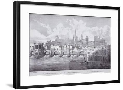 London Bridge, London, C1830-R Martin-Framed Art Print