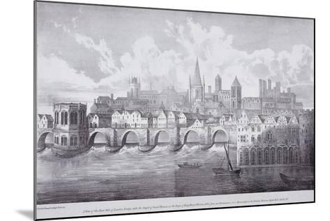 London Bridge, London, C1830-R Martin-Mounted Giclee Print