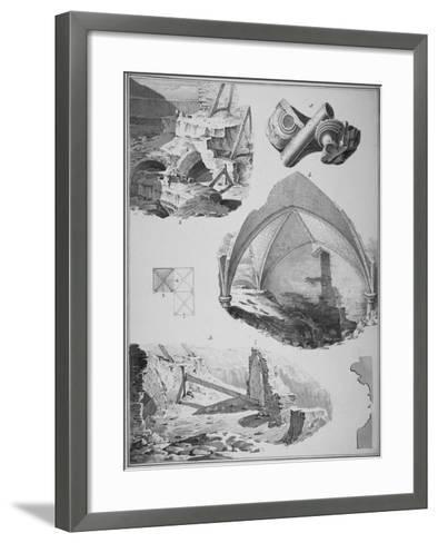 Vignettes of the Remains of the Church of St Martin's Le Grand, City of London, 1819-Robert Blemmell Schnebbelie-Framed Art Print