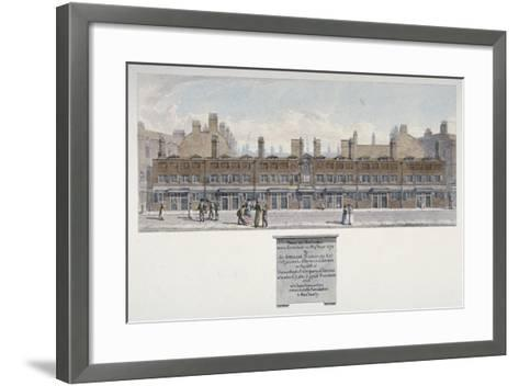 The Salters Almshouses in Monkwell Street, City of London, 1818-Robert Blemmell Schnebbelie-Framed Art Print