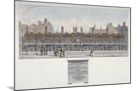 The Salters Almshouses in Monkwell Street, City of London, 1818-Robert Blemmell Schnebbelie-Mounted Giclee Print