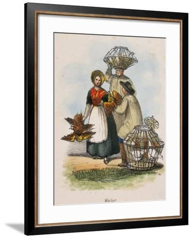Market, C1845-Robert Kent Thomas-Framed Art Print