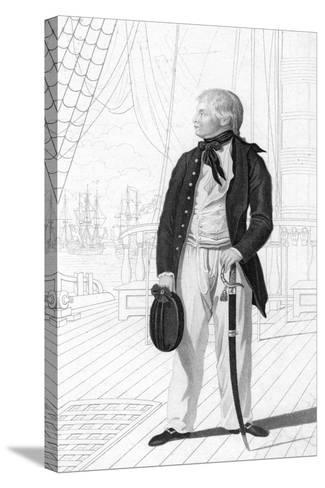 Prince William Henry as a Midshipman on Board the 'Prince George-R Page-Stretched Canvas Print