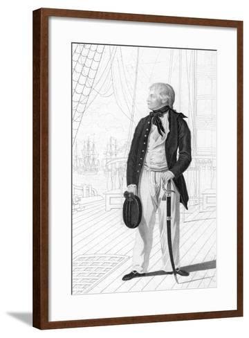 Prince William Henry as a Midshipman on Board the 'Prince George-R Page-Framed Art Print