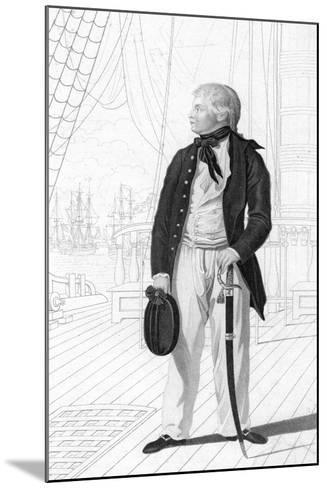 Prince William Henry as a Midshipman on Board the 'Prince George-R Page-Mounted Giclee Print