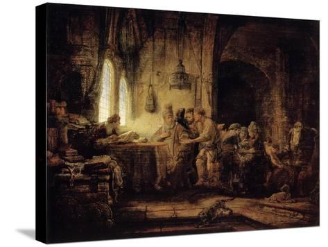 The Parable of the Labourers in the Vineyard, 1637-Rembrandt van Rijn-Stretched Canvas Print