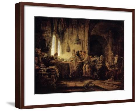The Parable of the Labourers in the Vineyard, 1637-Rembrandt van Rijn-Framed Art Print