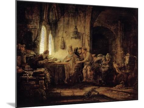The Parable of the Labourers in the Vineyard, 1637-Rembrandt van Rijn-Mounted Giclee Print