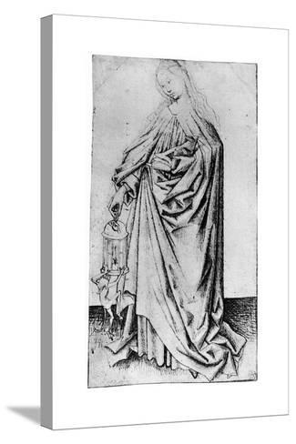 Sketch of a Saint, 1913-Rogier van der Weyden-Stretched Canvas Print