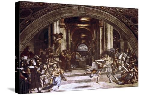 The Expulsion of Heliodorus from the Temple, 1512-1514-Raphael-Stretched Canvas Print