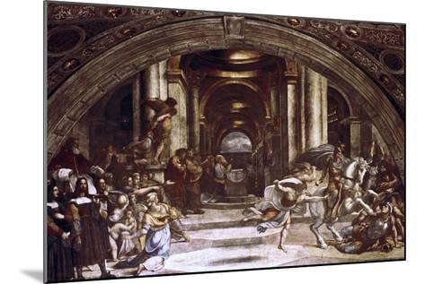 The Expulsion of Heliodorus from the Temple, 1512-1514-Raphael-Mounted Giclee Print