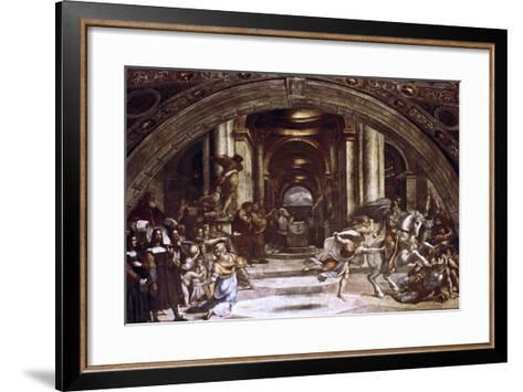 The Expulsion of Heliodorus from the Temple, 1512-1514-Raphael-Framed Art Print