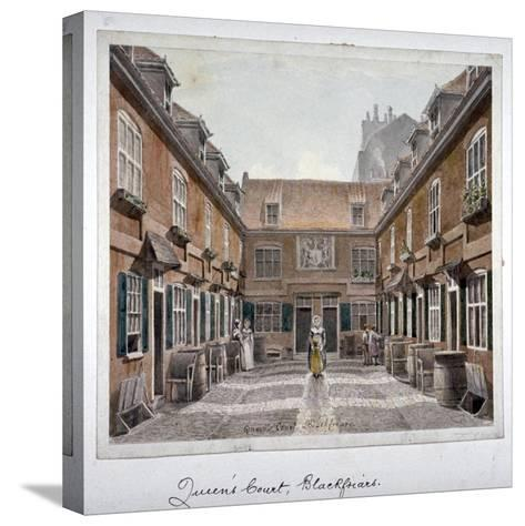 View of Queen's Court, Upper Ground Street, Southwark, London, 1830-Robert Blemmell Schnebbelie-Stretched Canvas Print