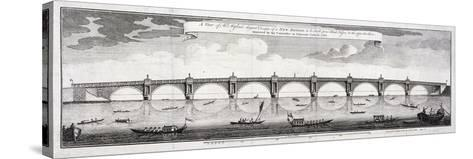 Design for Blackfriars Bridge, London, 1760-Robert Mylne II-Stretched Canvas Print
