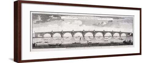 Design for Blackfriars Bridge, London, 1760-Robert Mylne II-Framed Art Print