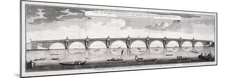 Design for Blackfriars Bridge, London, 1760-Robert Mylne II-Mounted Giclee Print