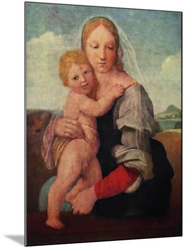 The Mackintosh Madonna, C1510-1512-Raphael-Mounted Giclee Print