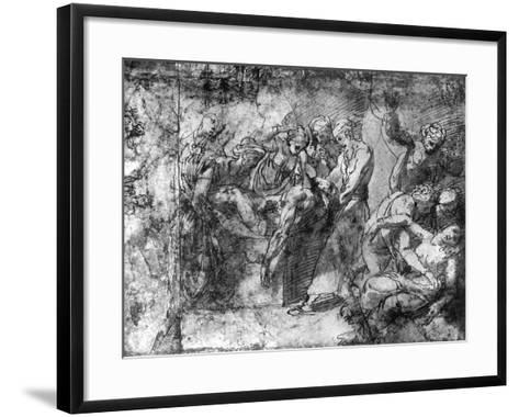 Study for an Entombment, Attributed to Raphael, 1913-Raphael-Framed Art Print